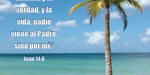 Playa tropical, Juan 14:6